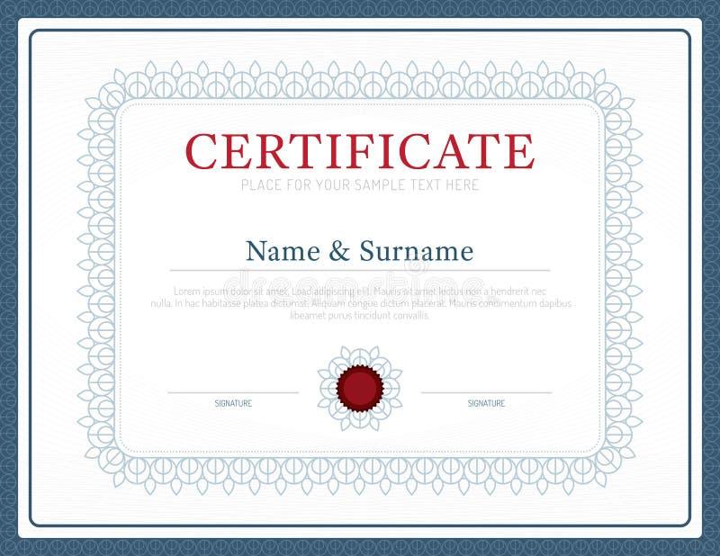 De vector de lay-out van het van het achtergrond certificaatmalplaatje kaderontwerp wijze vector illustratie