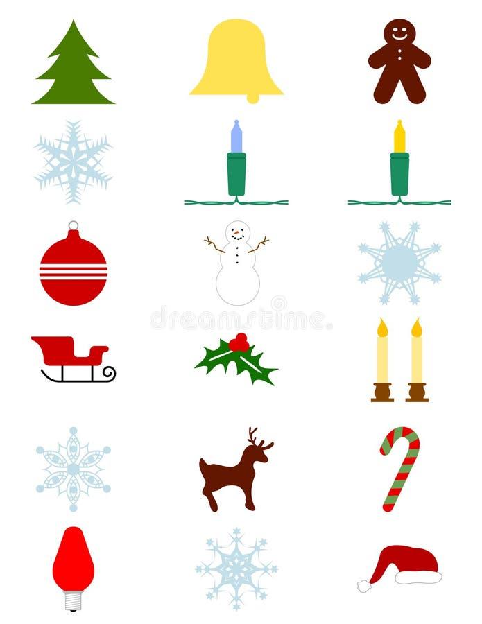 De vector Elementen van Kerstmis vector illustratie