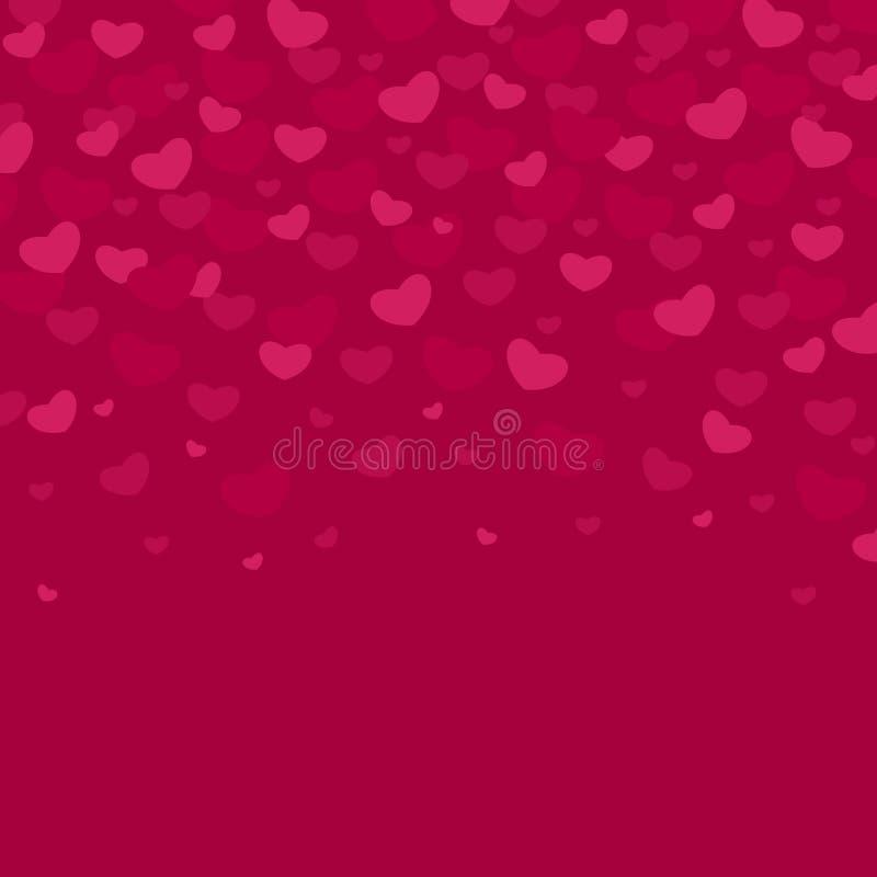 De vector geïllustreerde patronen van de Valentijnskaartendag De leuke achtergronden van het tegelhuwelijk met harten en strepen  stock illustratie