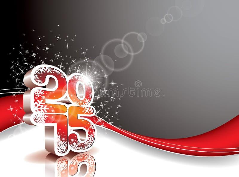 De vector Gelukkige achtergrond van de Nieuwjaar 2015 viering stock illustratie