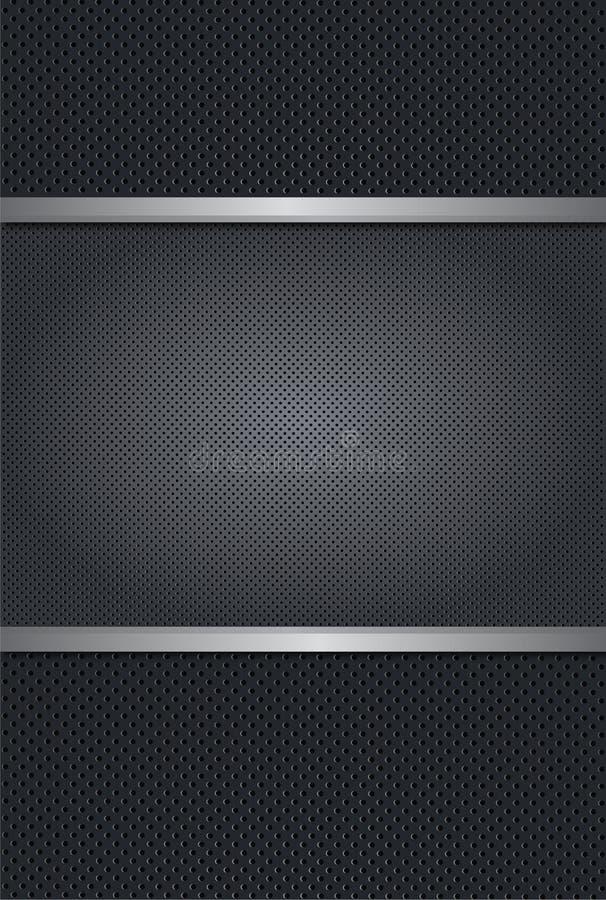 De vector Geperforeerde Achtergrond van het Metaal vector illustratie