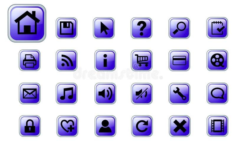 De vector geplaatste pictogrammen van het Web royalty-vrije illustratie