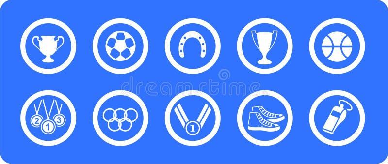 De vector geplaatste pictogrammen van sporten vector illustratie