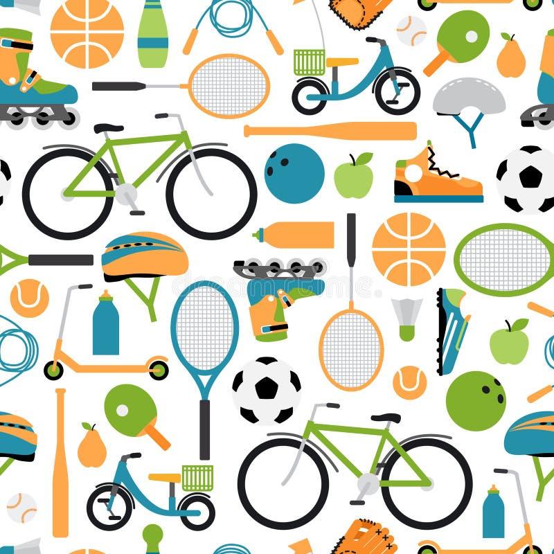 De vector gezonde achtergrond van het sportpatroon stock illustratie