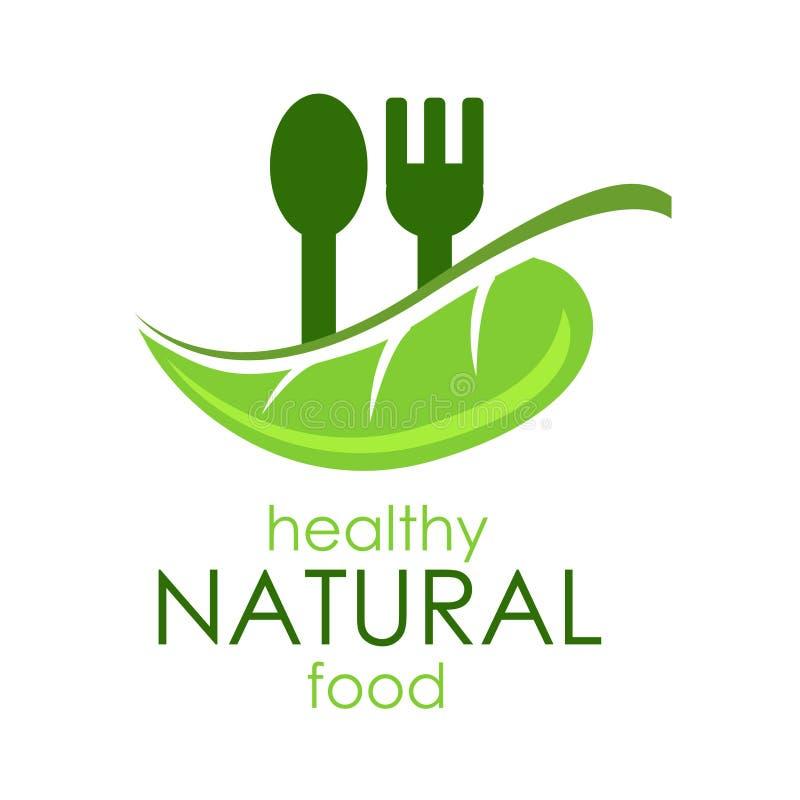 De vector gezonde natuurvoeding van het illustratieembleem vector illustratie