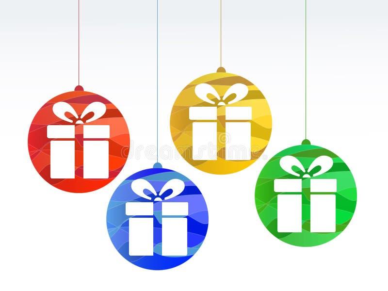 De vector giften van Kerstmis royalty-vrije illustratie