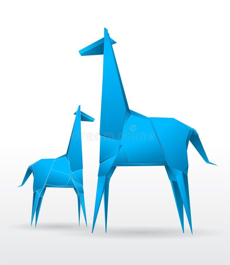 De vector Giraf van de Origami stock illustratie