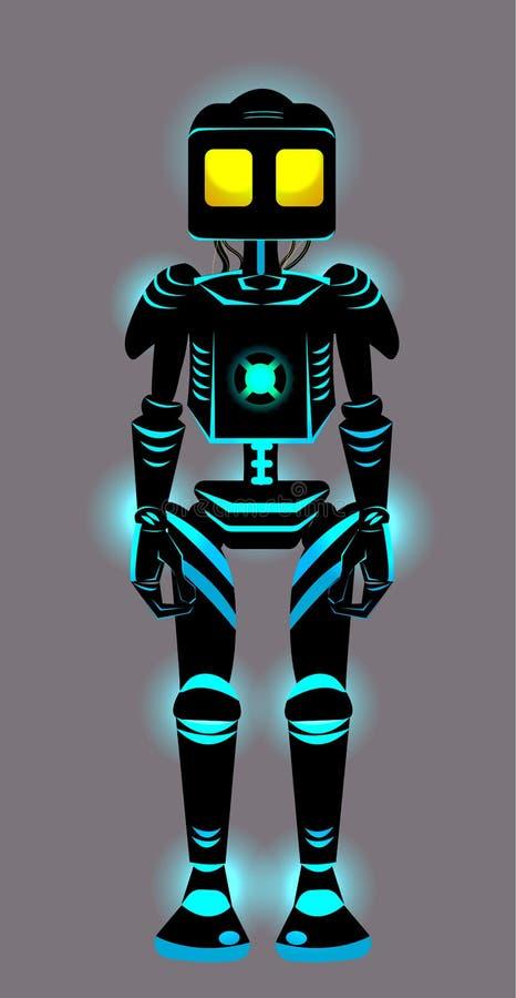 De vector glanst beeldverhaalstuk speelgoed robot vector illustratie