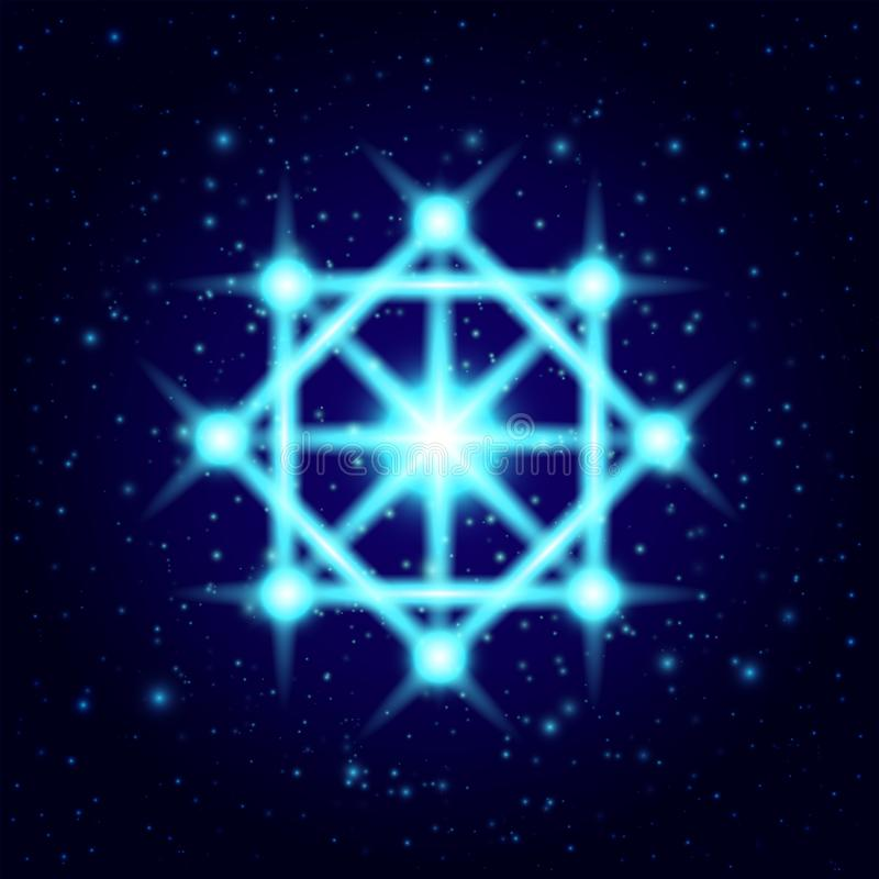 De vector glanst geestelijk symbool Heilige Meetkunde stock illustratie