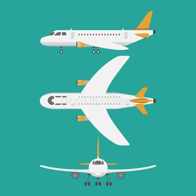 De vector hoogste mening van de vliegtuigillustratie en de de reismanier van het vliegtuigenvervoer ontwerpen reisvervoer vector illustratie