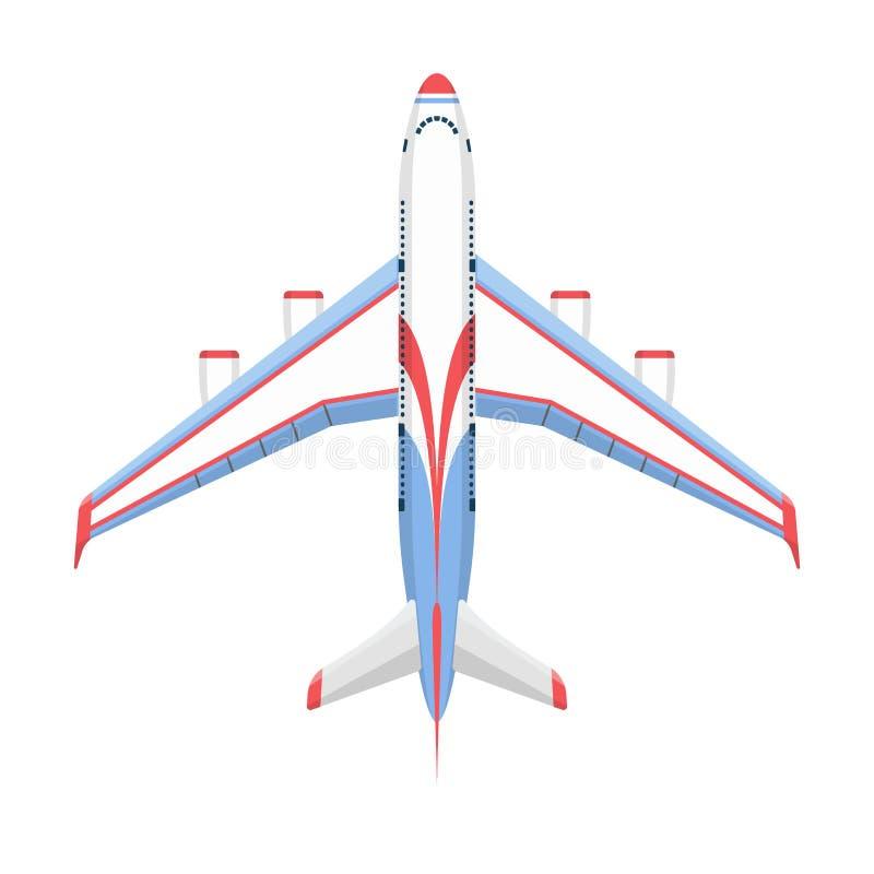 De vector hoogste mening van de vliegtuigillustratie en de de reismanier van het vliegtuigenvervoer ontwerpen de luchtvaart van d royalty-vrije illustratie