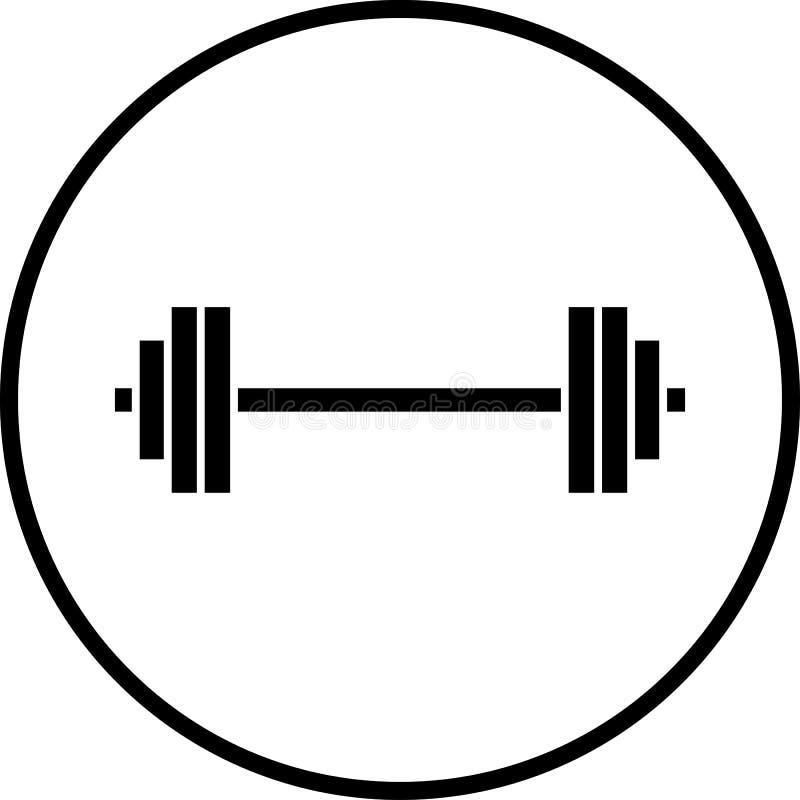 De vector illustratie van het de gewichtensymbool van de barbellgymnastiek royalty-vrije stock foto
