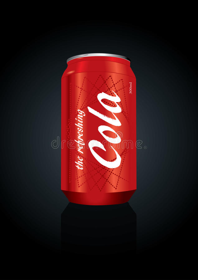 De vector illustratie van kola kan royalty-vrije illustratie