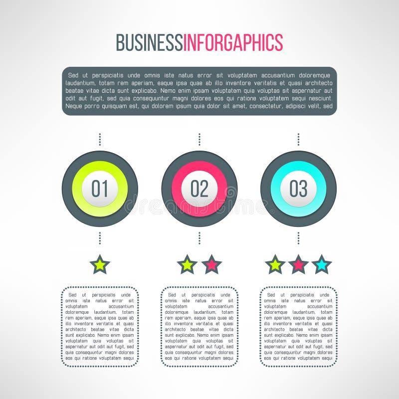 De vector infographic elementen van bedrijfsprocesstappen royalty-vrije illustratie