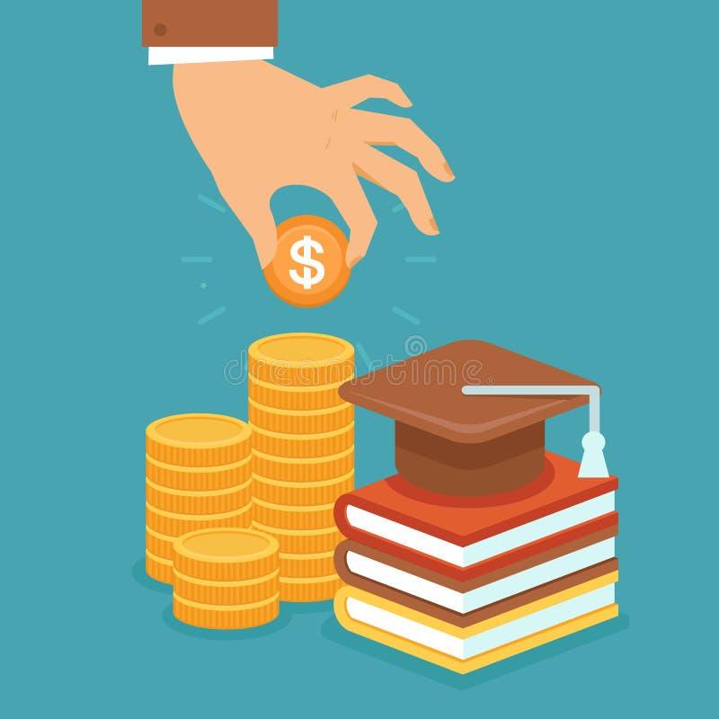De vector investeert in onderwijsconcept vector illustratie