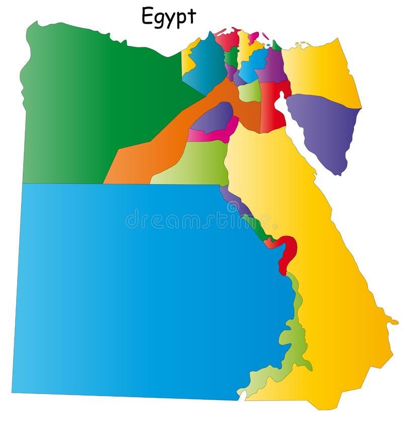De vector kaart van Egypte stock illustratie