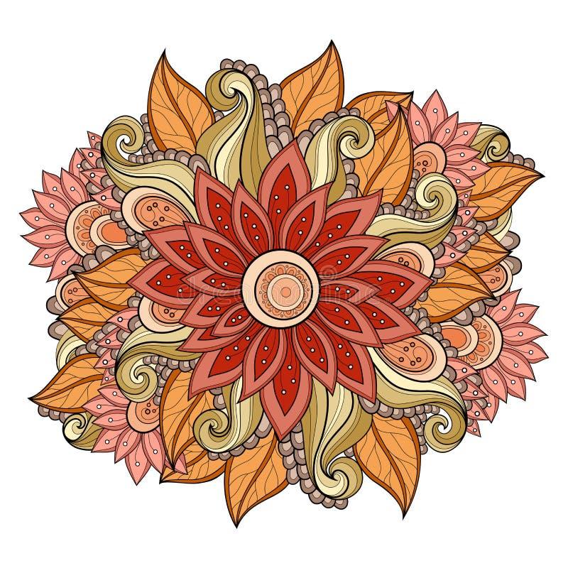 De vector kleurde Bloemenachtergrond stock illustratie