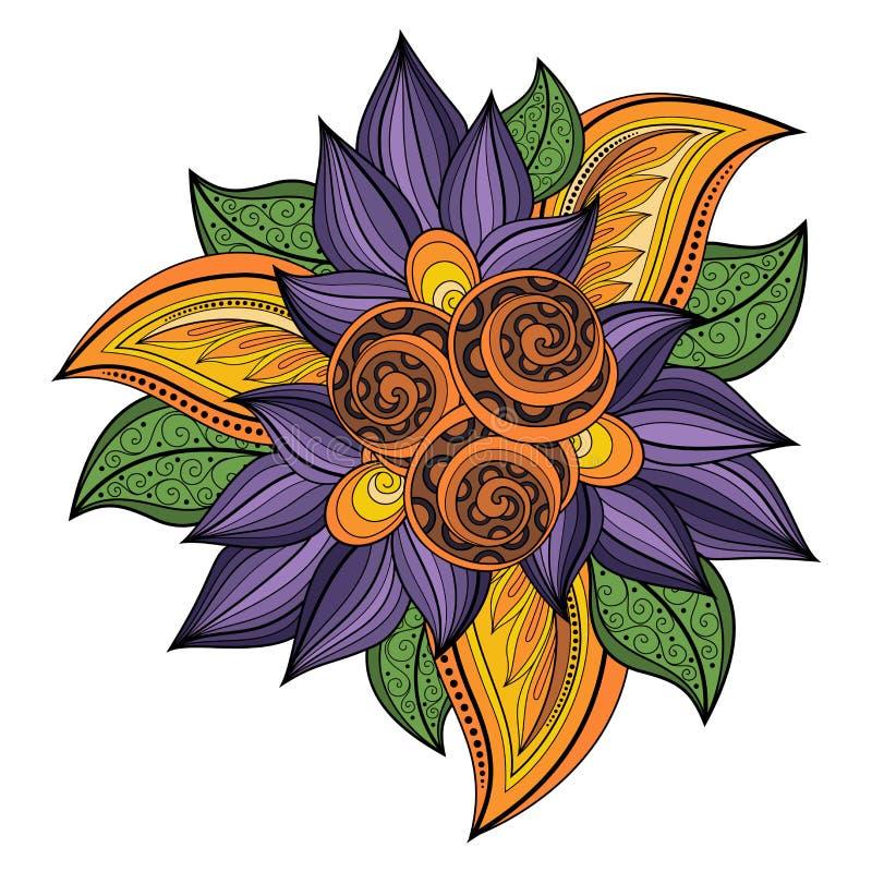 De vector kleurde Bloemenachtergrond royalty-vrije illustratie