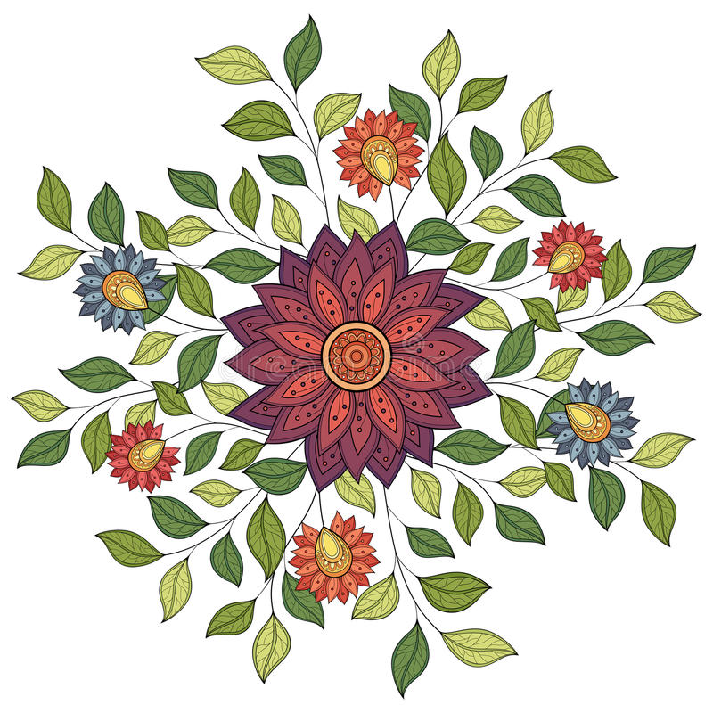 De vector kleurde Bloemenachtergrond vector illustratie