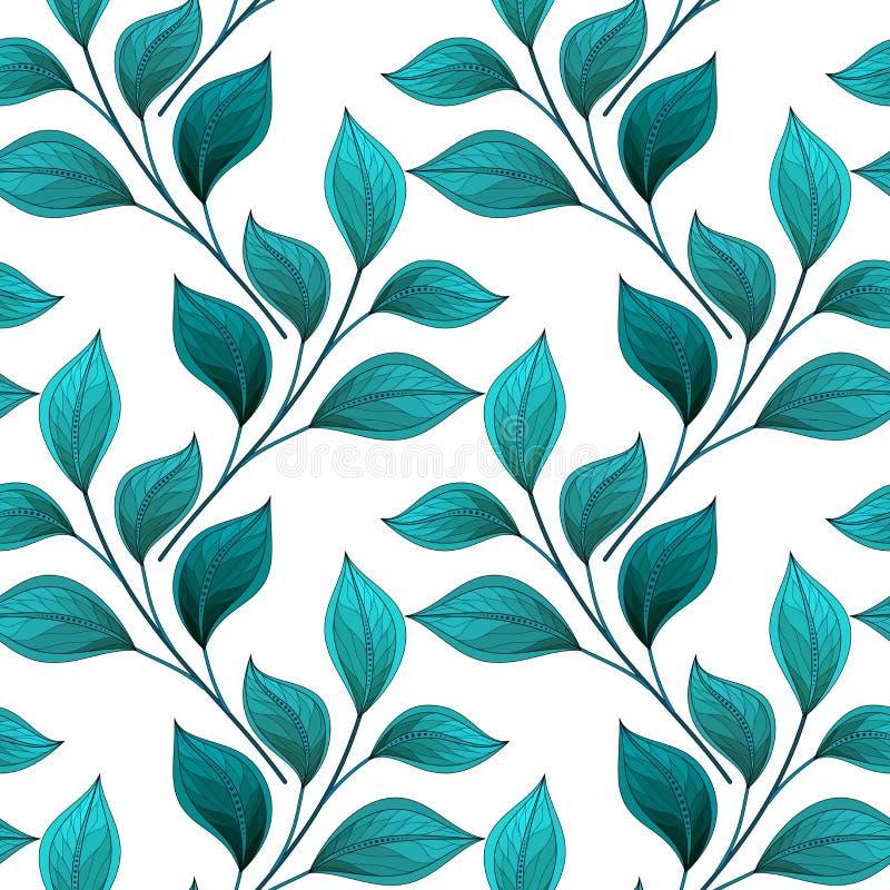 De vector kleurde Naadloos Bloemenpatroon stock illustratie