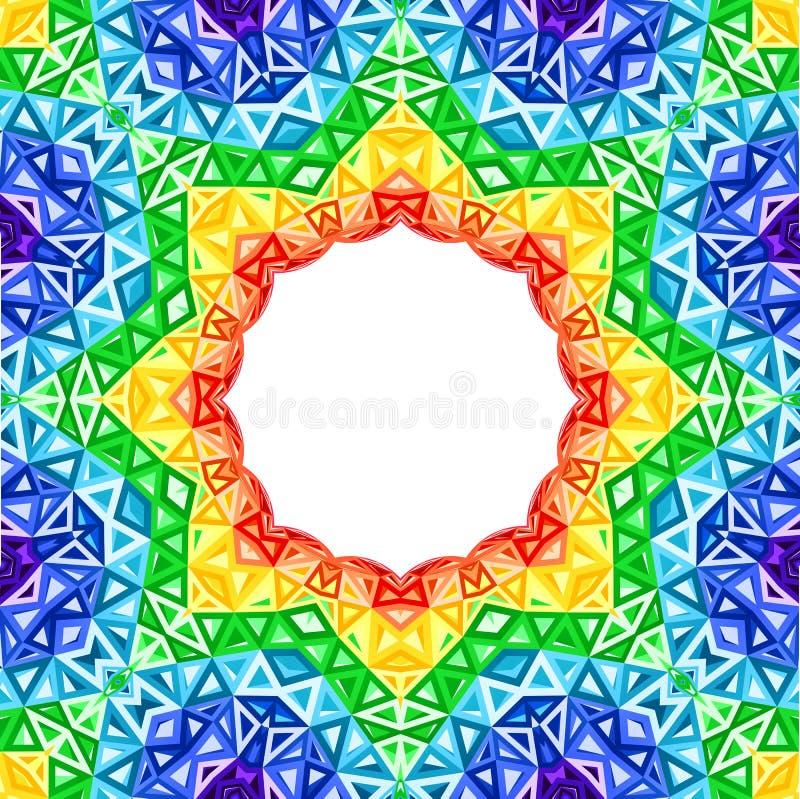 De vector kleurrijke achtergrond van de regenboogcaleidoscoop vector illustratie