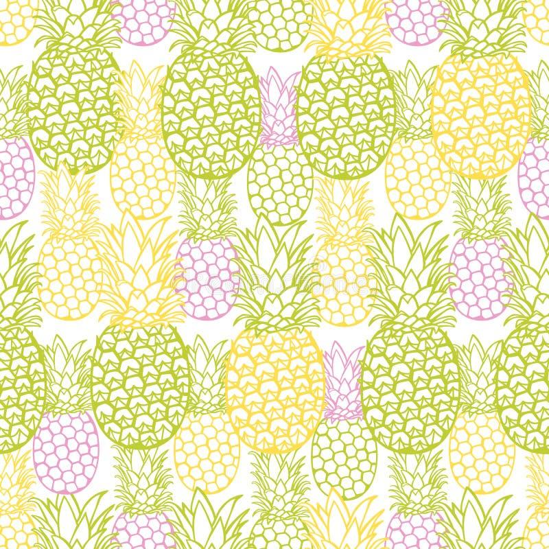 De vector kleurrijke ananastextuur herhaalt patroon Geschikt voor giftomslag, textiel en behang vector illustratie