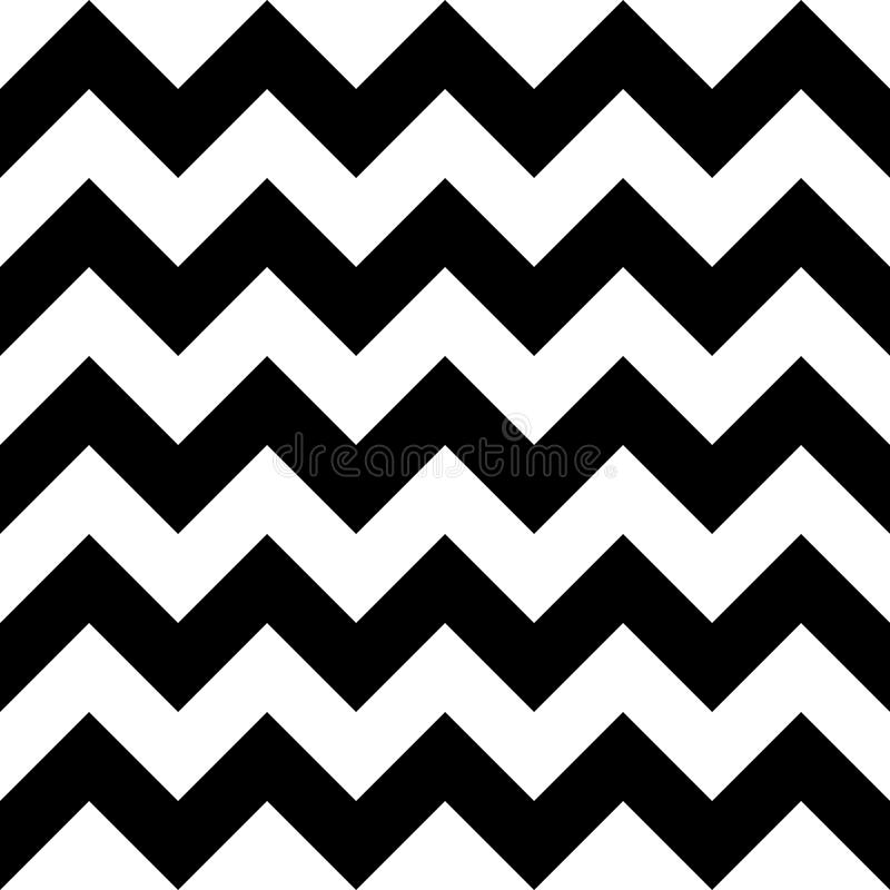 De vector moderne naadloze chevron van het meetkundepatroon, zwart-witte samenvatting stock illustratie