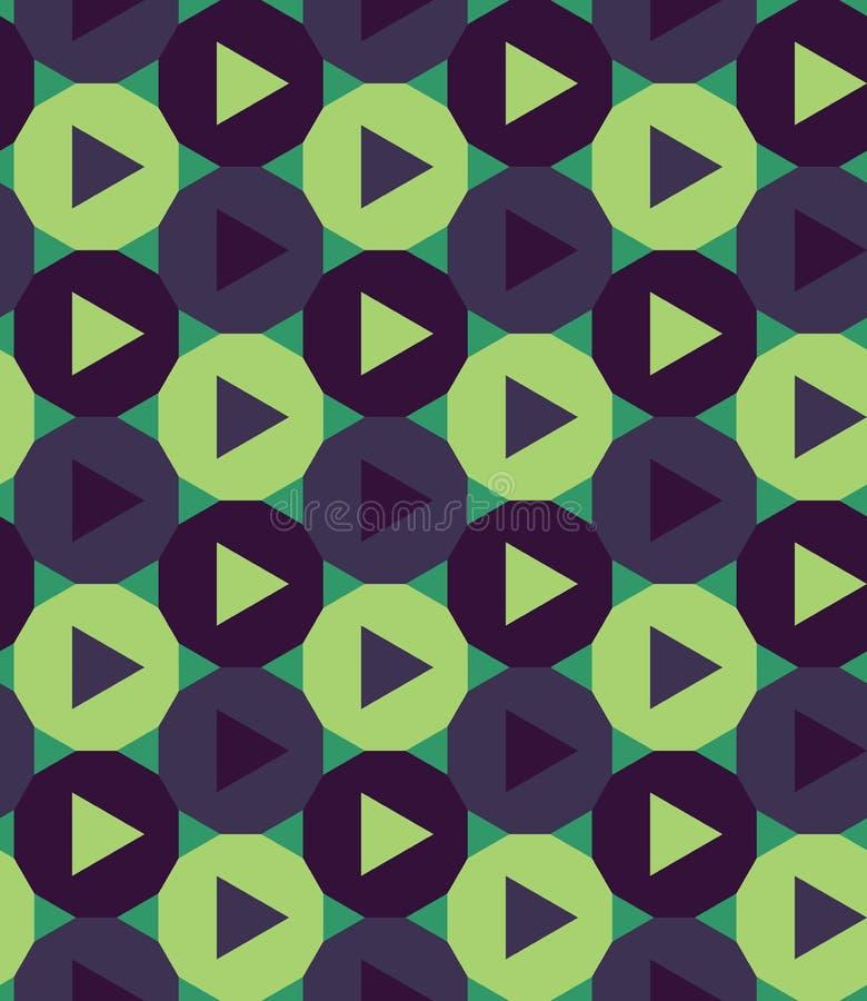 De vector moderne naadloze kleurrijke de driehoeksveelhoek van het meetkundepatroon, kleurt blauwgroene samenvatting royalty-vrije illustratie