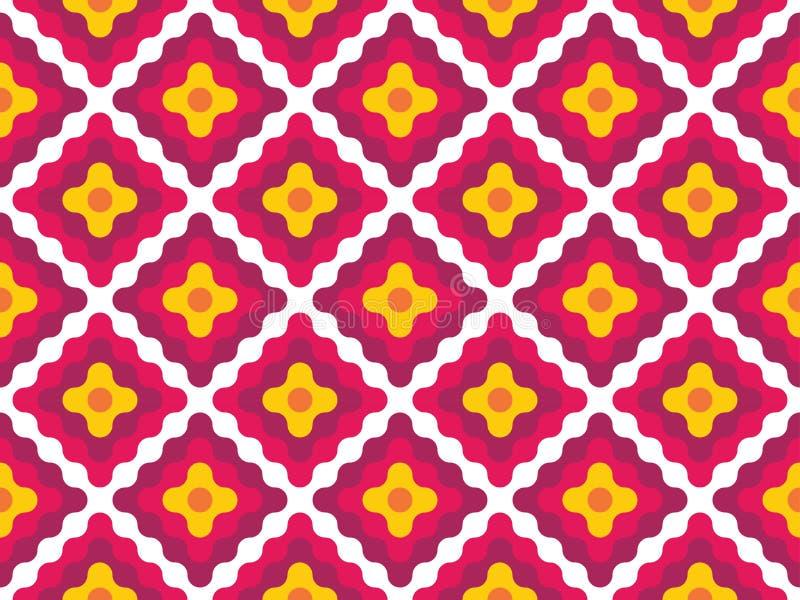De vector moderne naadloze kleurrijke diamanten van het meetkundepatroon stock illustratie