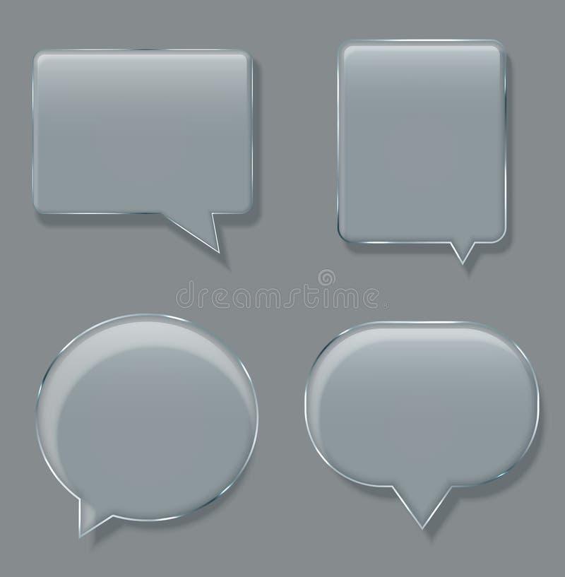 De vector moderne toespraak van de glasbel op steekproefachtergrond vector illustratie