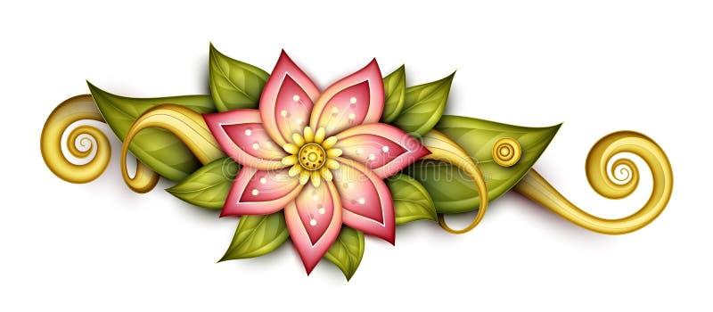 De vector Mooie Samenvatting kleurde Bloemensamenstelling royalty-vrije illustratie