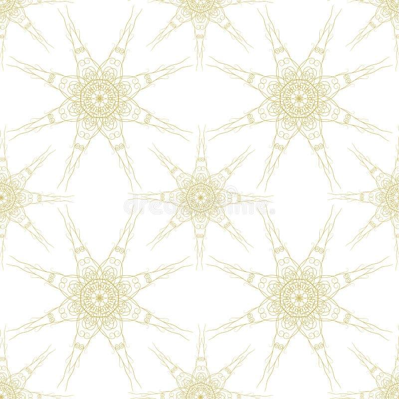 De in vector naadloze achtergrond van het patroonbehang Retro stijl stock illustratie