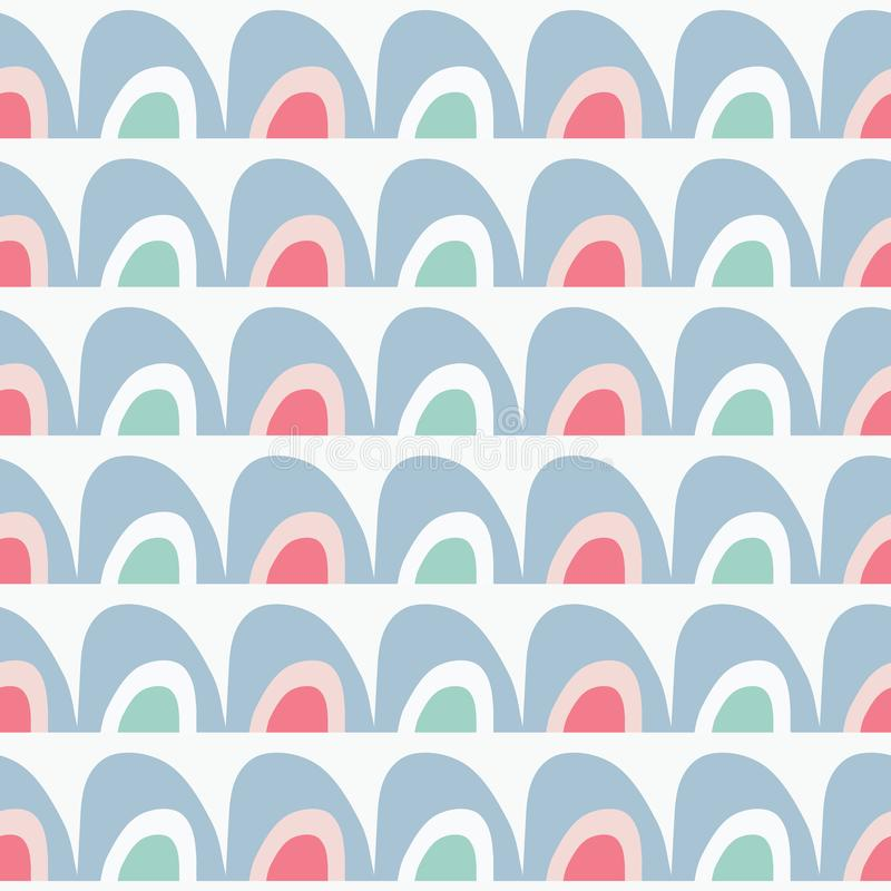 De vector naadloze regenboog herhaalt patroon vector illustratie