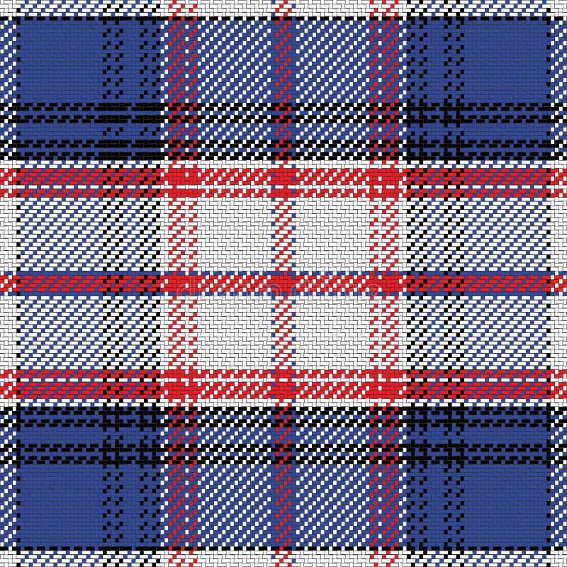 De vector naadloze Staat van het patroon Schotse geruite Schots wollen stof van Florida stock illustratie
