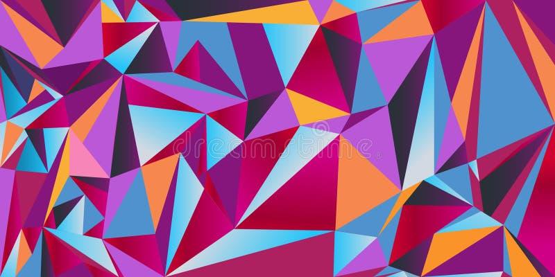 De vector naadloze textuur van de driehoek vector illustratie