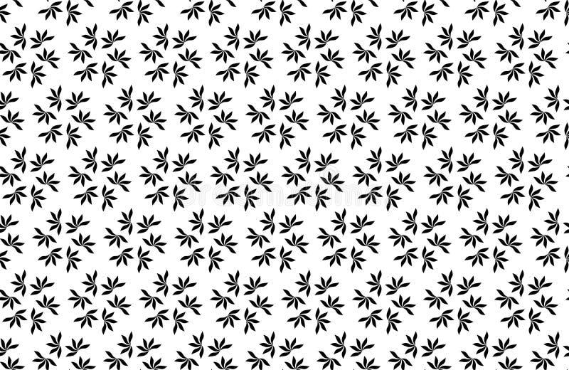 De vector Naadloze Zwart-witte Geometrische Achtergrond van het bloempatroon vector illustratie