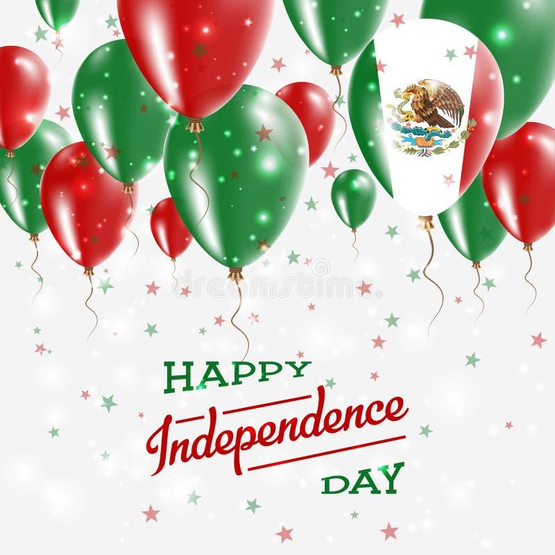 De Vector Patriottische Affiche van Mexico De achtergrond van de onafhankelijkheid Day royalty-vrije illustratie