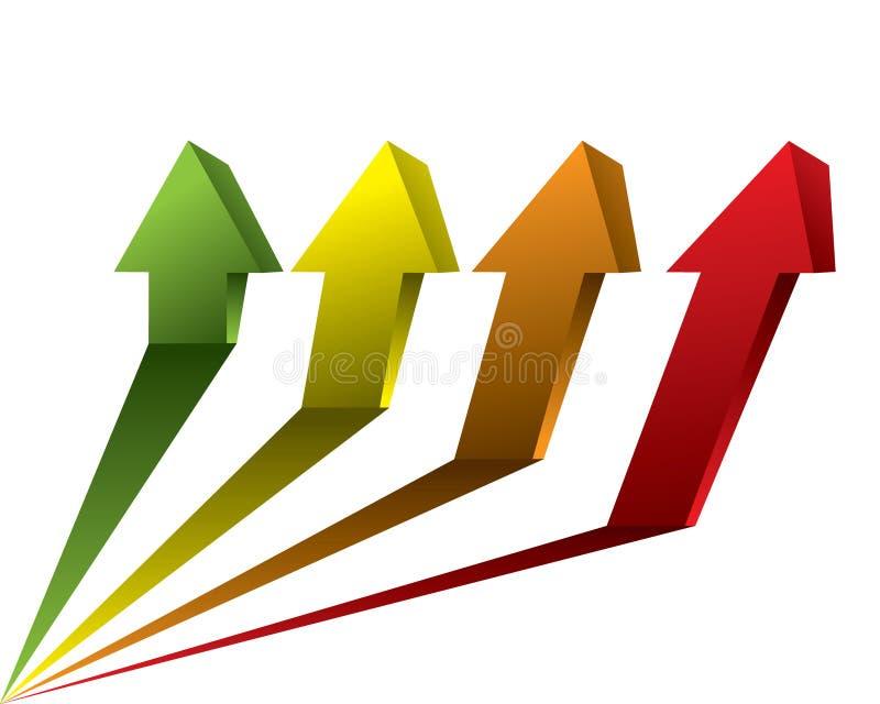 De vector pijl van de grafiekgrafiek stock illustratie