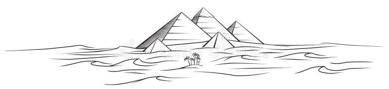 De vector piramides van Egypte stock afbeeldingen
