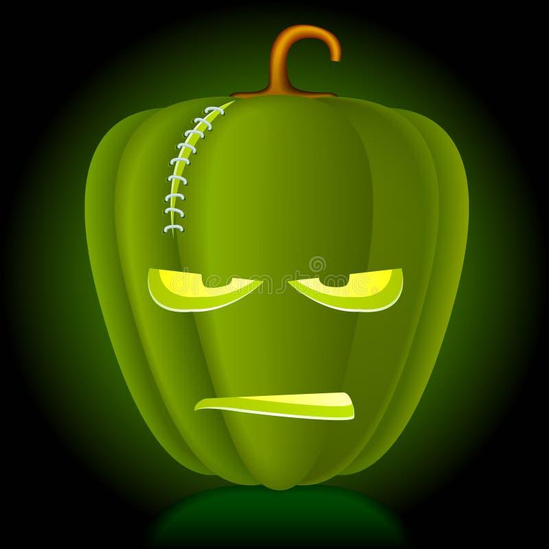 De vector pompoen van Halloween. stock illustratie