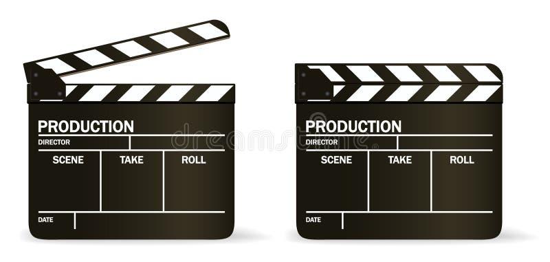 De VECTOR raad van de filmklep stock illustratie