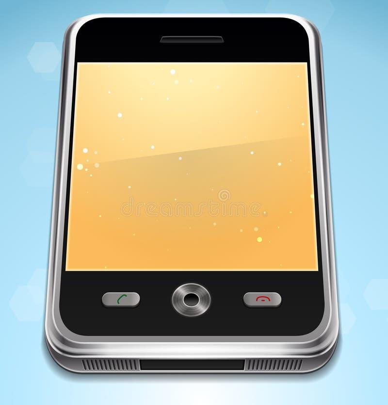 De vector Realistische Telefoon van de Cel stock illustratie
