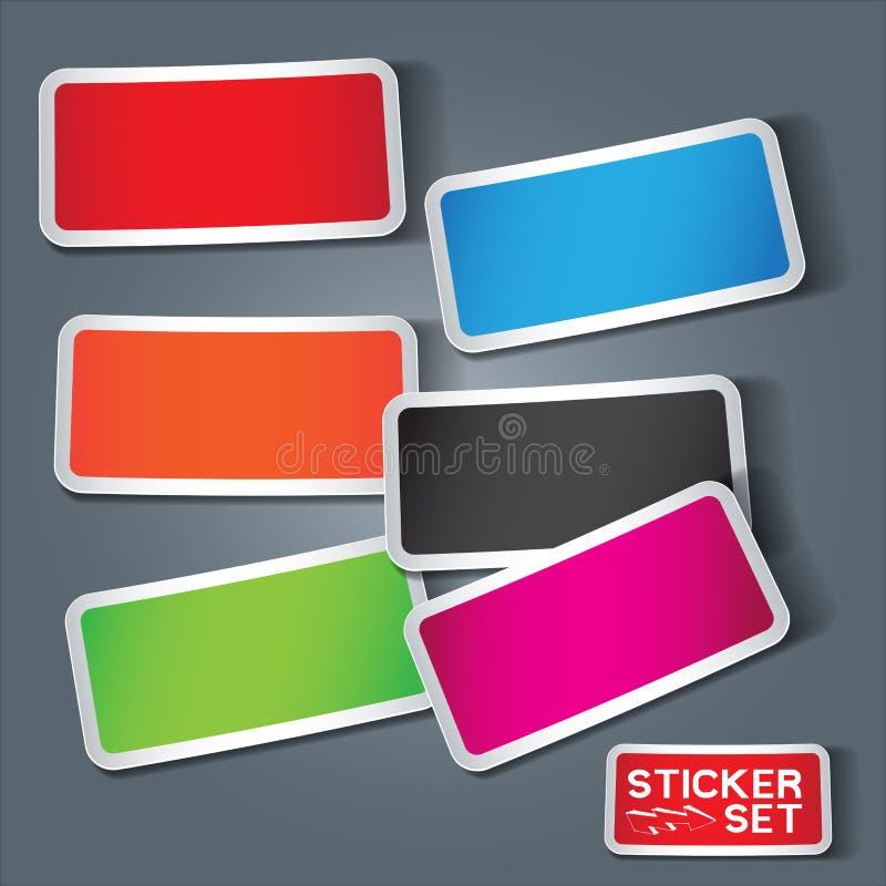 De vector Reeks van de Sticker