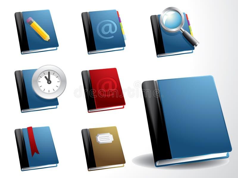 De vector reeks van het boekpictogram vector illustratie