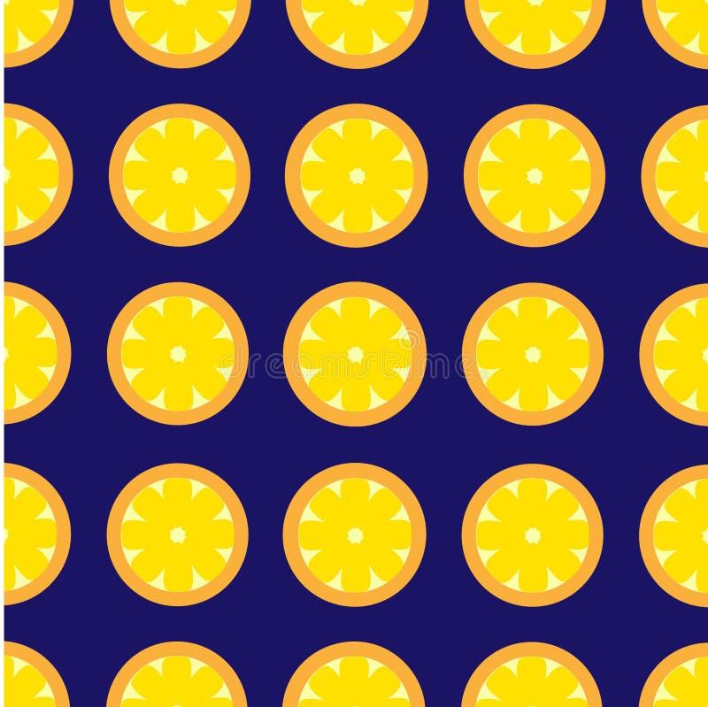 De Vector Retro Achtergrond van het citroenpatroon stock afbeeldingen