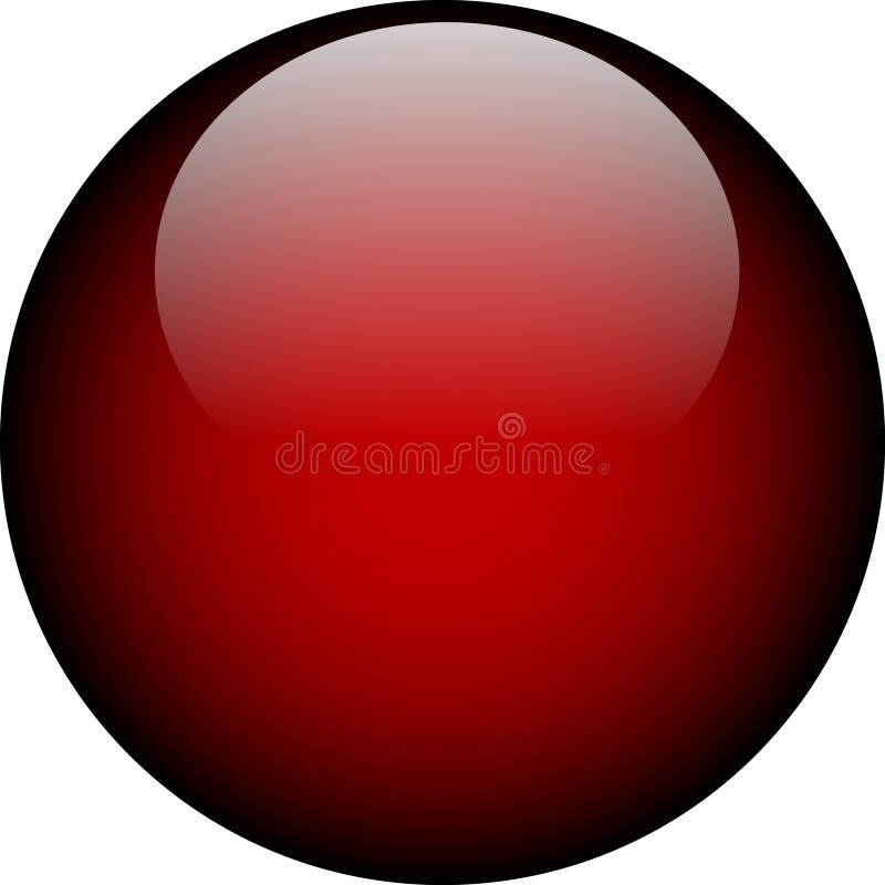 De vector Rode Knoop van het Glas vector illustratie
