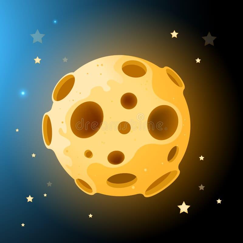 De vector Rots van de Maan stock illustratie