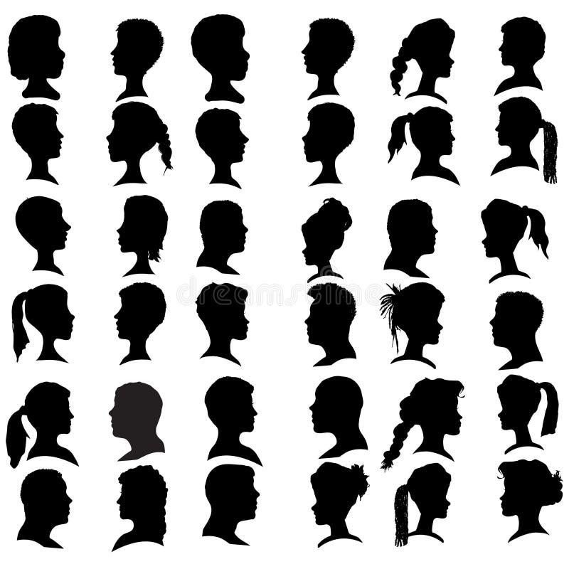 De vector silhouetteert mensen vector illustratie