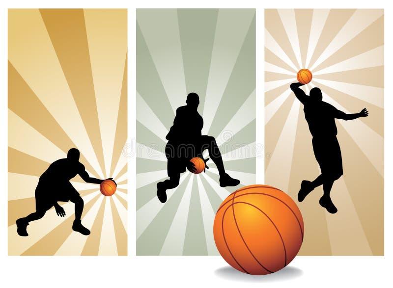 De vector Spelers van het Basketbal stock illustratie