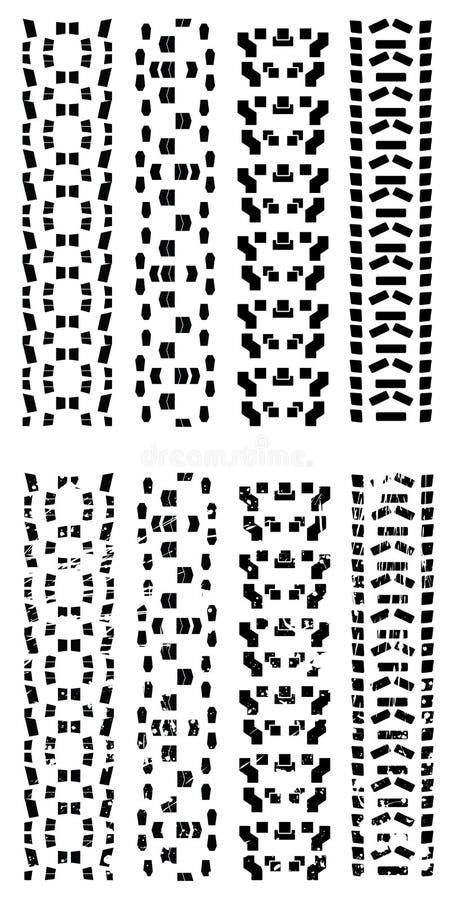 De vector sporen van de fietsband royalty-vrije illustratie